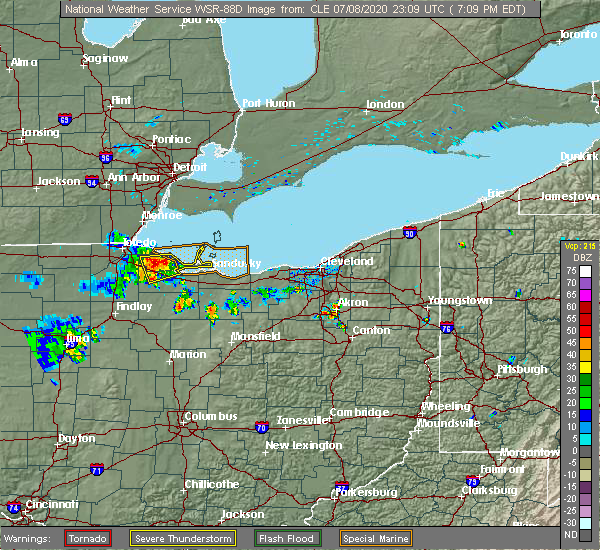 Radar Image for Severe Thunderstorms near Wightmans Grove, OH at 7/8/2020 7:21 PM EDT