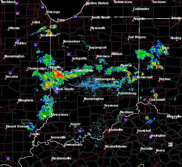 Radar Image for Severe Thunderstorms near Paris, IL at 7/8/2020 6:27 PM CDT