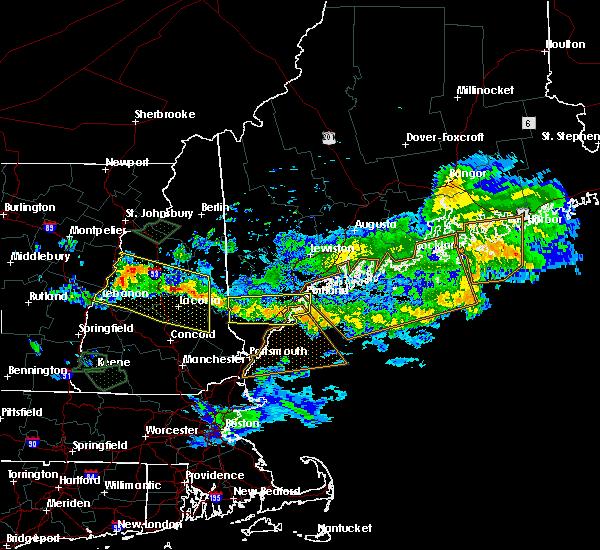 Radar Image for Severe Thunderstorms near Sanford, ME at 7/8/2020 7:34 PM EDT