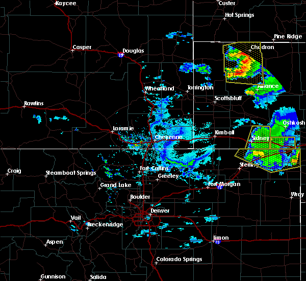 Radar Image for Severe Thunderstorms near Lodgepole, NE at 7/8/2020 5:49 PM MDT