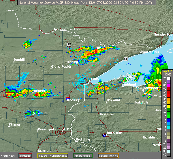 Radar Image for Severe Thunderstorms near Cuyuna, MN at 7/8/2020 6:56 PM CDT