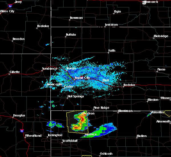 Radar Image for Severe Thunderstorms near Chadron, NE at 7/8/2020 6:02 PM MDT