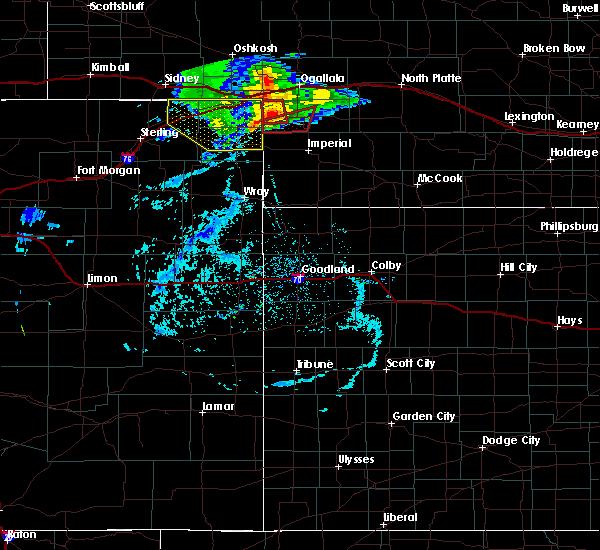 Radar Image for Severe Thunderstorms near Grant, NE at 7/8/2020 6:18 PM MDT