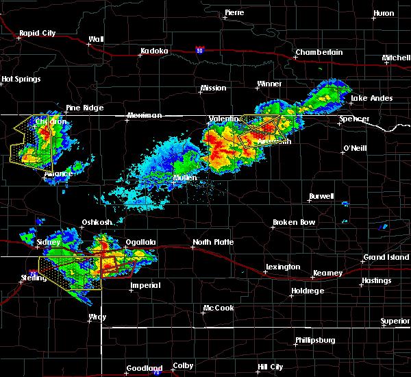 Radar Image for Severe Thunderstorms near Keystone, NE at 7/8/2020 6:22 PM MDT