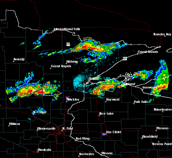 Radar Image for Severe Thunderstorms near Merrifield, MN at 7/8/2020 7:26 PM CDT
