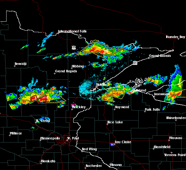Radar Image for Severe Thunderstorms near Merrifield, MN at 7/8/2020 7:37 PM CDT