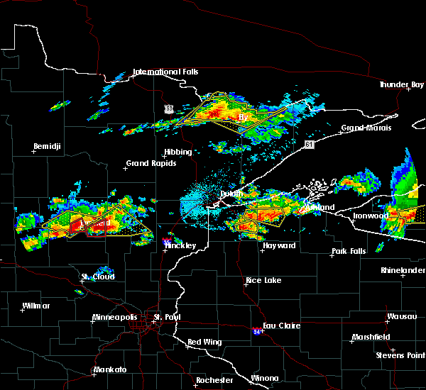 Radar Image for Severe Thunderstorms near Merrifield, MN at 7/8/2020 7:38 PM CDT