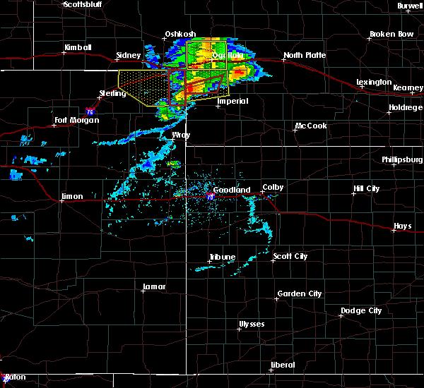 Radar Image for Severe Thunderstorms near Grant, NE at 7/8/2020 6:40 PM MDT