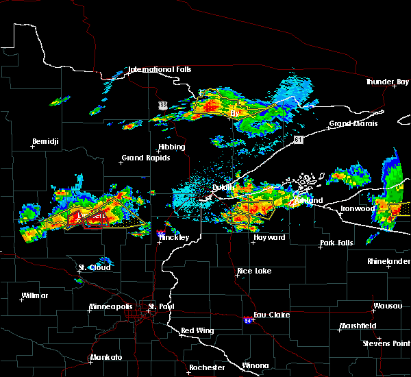 Radar Image for Severe Thunderstorms near Merrifield, MN at 7/8/2020 7:47 PM CDT