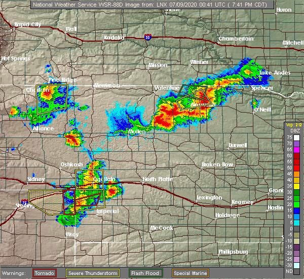 Radar Image for Severe Thunderstorms near Hyannis, NE at 7/8/2020 6:48 PM MDT