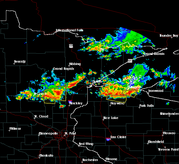 Radar Image for Severe Thunderstorms near Aitkin, MN at 7/8/2020 8:43 PM CDT