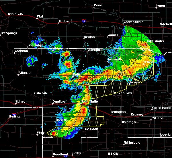 Radar Image for Severe Thunderstorms near Anselmo, NE at 7/8/2020 9:07 PM CDT