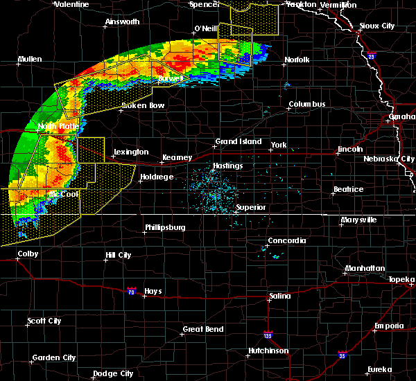 Radar Image for Severe Thunderstorms near Loomis, NE at 7/8/2020 9:38 PM CDT