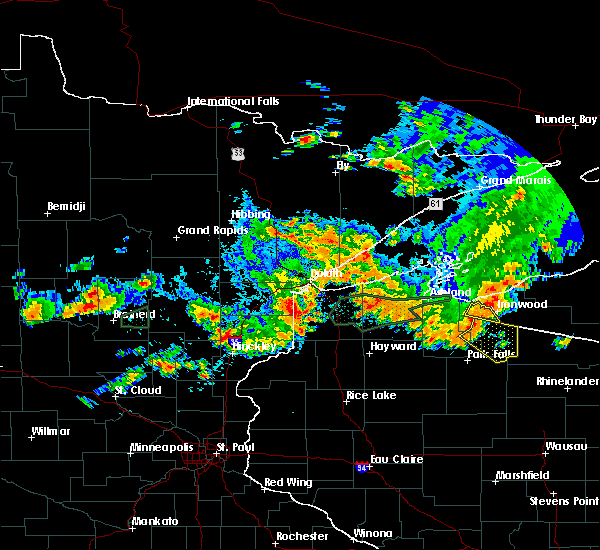 Radar Image for Severe Thunderstorms near Breezy Point, MN at 7/8/2020 9:41 PM CDT
