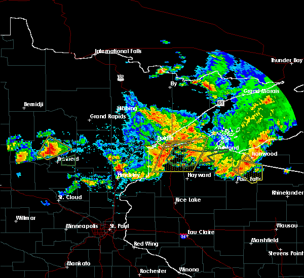 Radar Image for Severe Thunderstorms near Breezy Point, MN at 7/8/2020 9:52 PM CDT
