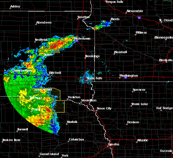 Radar Image for Severe Thunderstorms near Verdigre, NE at 7/8/2020 9:52 PM CDT