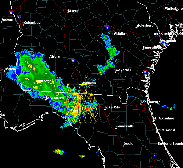 Radar Image for Severe Thunderstorms near Jasper, FL at 6/30/2015 7:26 PM EDT