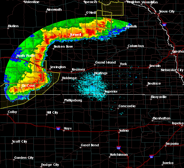 Radar Image for Severe Thunderstorms near Loomis, NE at 7/8/2020 10:04 PM CDT