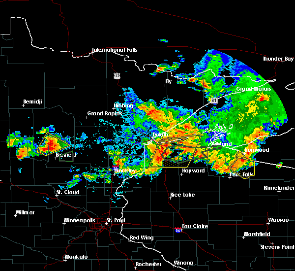 Radar Image for Severe Thunderstorms near Breezy Point, MN at 7/8/2020 10:05 PM CDT