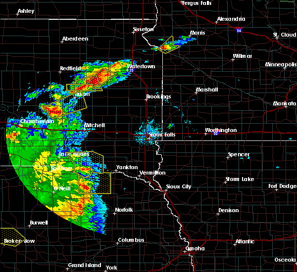 Radar Image for Severe Thunderstorms near Verdigre, NE at 7/8/2020 10:05 PM CDT