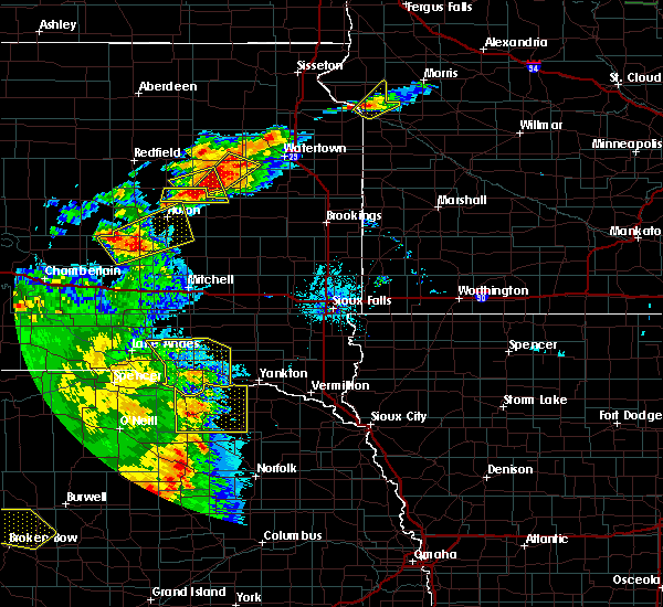 Radar Image for Severe Thunderstorms near Crofton, NE at 7/8/2020 10:13 PM CDT