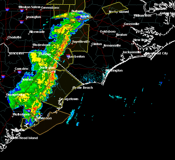 Radar Image for Severe Thunderstorms near Orrum, NC at 6/30/2015 7:26 PM EDT