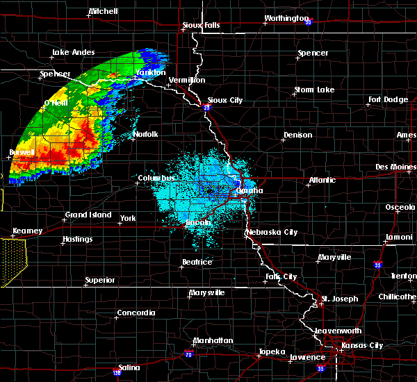 Radar Image for Severe Thunderstorms near Raeville, NE at 7/8/2020 10:27 PM CDT