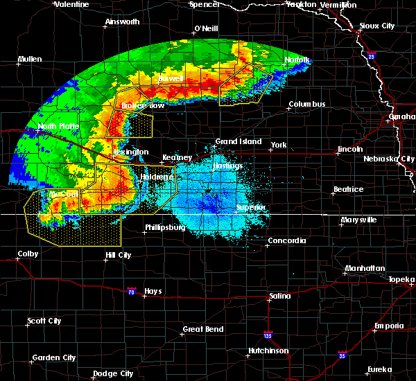 Radar Image for Severe Thunderstorms near Riverton, NE at 7/8/2020 10:36 PM CDT