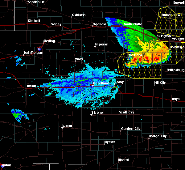 Radar Image for Severe Thunderstorms near Norton, KS at 7/8/2020 10:36 PM CDT