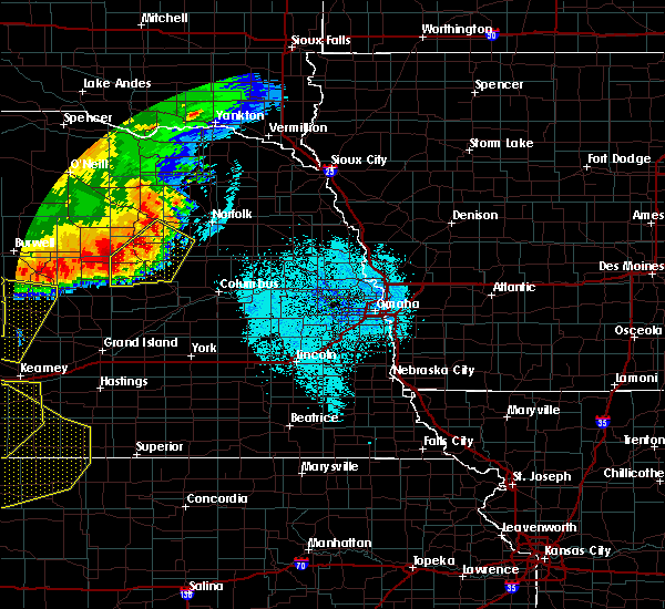 Radar Image for Severe Thunderstorms near Raeville, NE at 7/8/2020 10:38 PM CDT