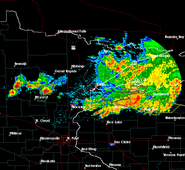 Radar Image for Severe Thunderstorms near Aitkin, MN at 7/8/2020 10:52 PM CDT