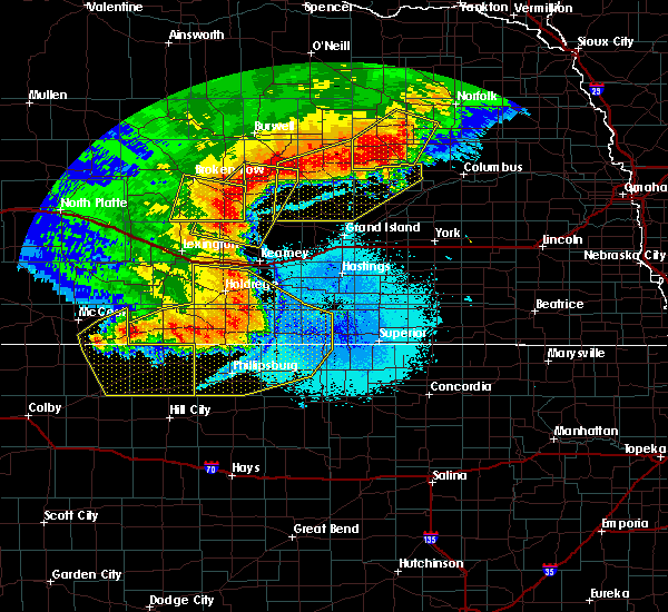 Radar Image for Severe Thunderstorms near Miller, NE at 7/8/2020 11:00 PM CDT