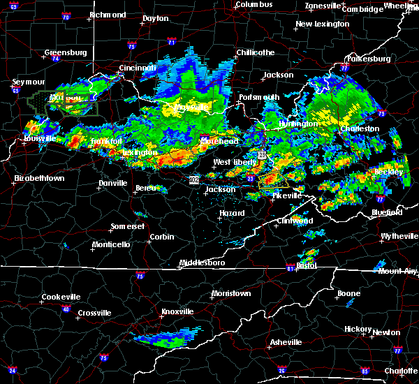 Radar Image for Severe Thunderstorms near Warfield, KY at 6/30/2015 7:29 PM EDT