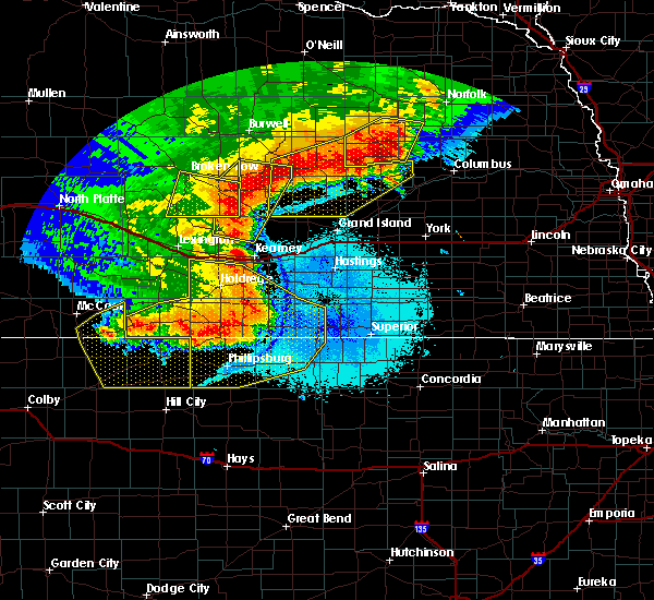Radar Image for Severe Thunderstorms near Riverton, NE at 7/8/2020 11:03 PM CDT