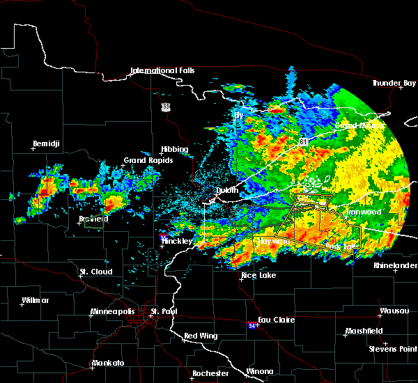 Radar Image for Severe Thunderstorms near Aitkin, MN at 7/8/2020 11:05 PM CDT