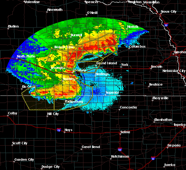 Radar Image for Severe Thunderstorms near Riverton, NE at 7/8/2020 11:12 PM CDT