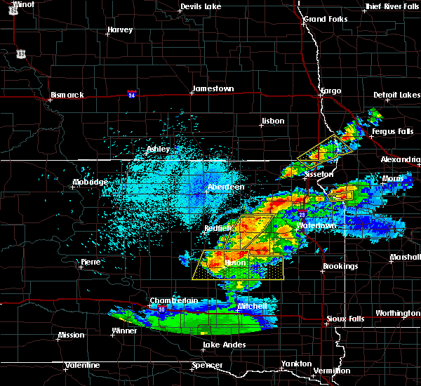 Radar Image for Severe Thunderstorms near Grenville, SD at 7/8/2020 11:14 PM CDT