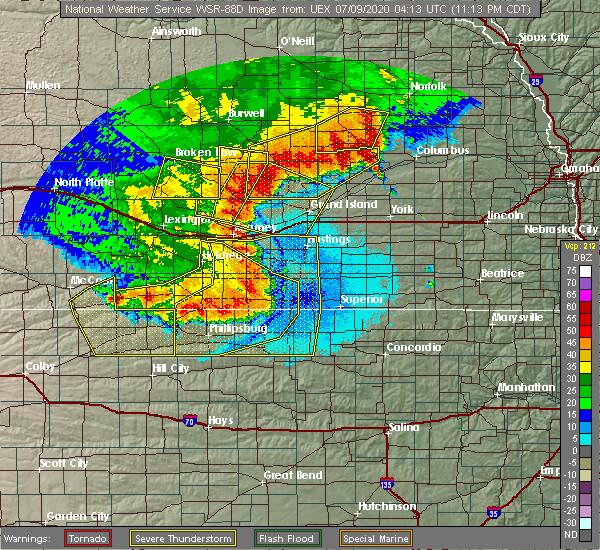 Radar Image for Severe Thunderstorms near Norton, KS at 7/8/2020 11:18 PM CDT