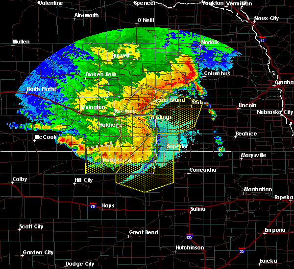 Radar Image for Severe Thunderstorms near Riverton, NE at 7/8/2020 11:45 PM CDT