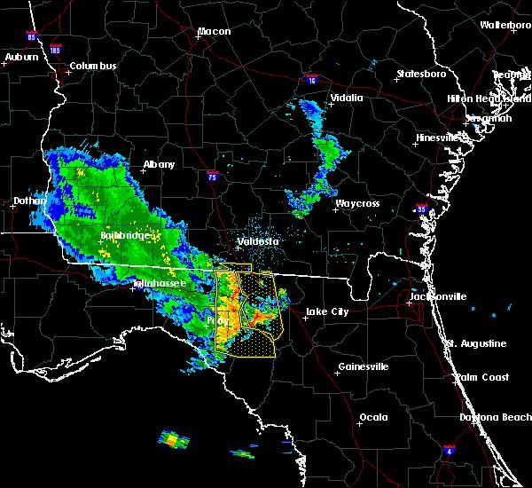Radar Image for Severe Thunderstorms near Madison, FL at 6/30/2015 7:32 PM EDT