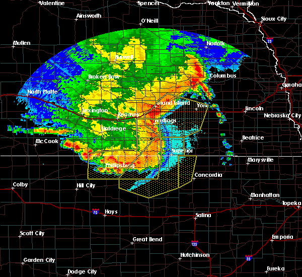 Radar Image for Severe Thunderstorms near Ong, NE at 7/8/2020 11:52 PM CDT