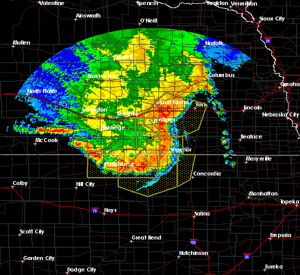 Radar Image for Severe Thunderstorms near Ong, NE at 7/9/2020 12:01 AM CDT