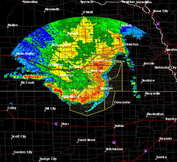 Radar Image for Severe Thunderstorms near Ong, NE at 7/9/2020 12:09 AM CDT