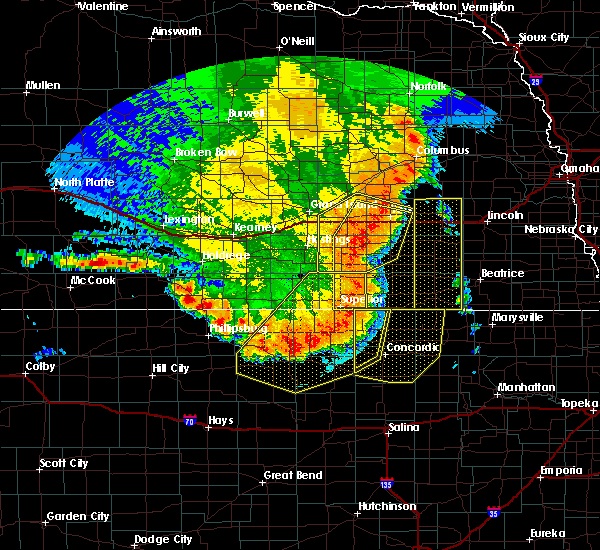 Radar Image for Severe Thunderstorms near Webber, KS at 7/9/2020 12:15 AM CDT