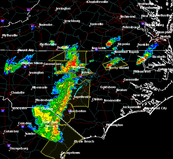 Radar Image for Severe Thunderstorms near Oxford, NC at 6/30/2015 7:32 PM EDT