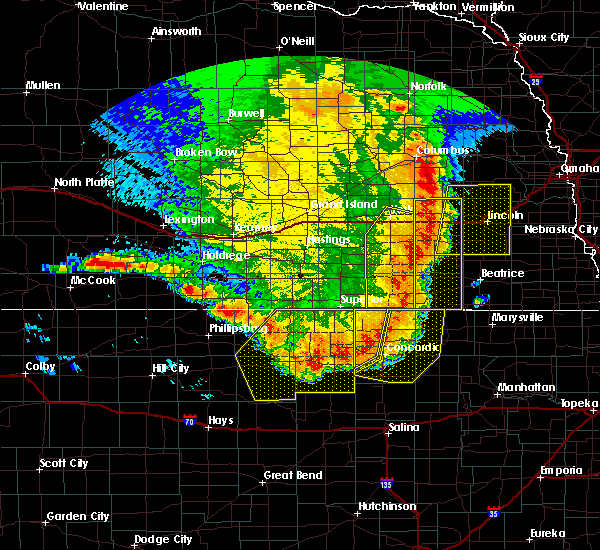 Radar Image for Severe Thunderstorms near Milligan, NE at 7/9/2020 12:45 AM CDT