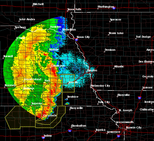 Radar Image for Severe Thunderstorms near Denton, NE at 7/9/2020 12:51 AM CDT