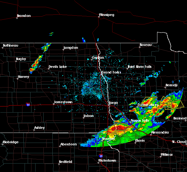 Radar Image for Severe Thunderstorms near Kent, MN at 7/9/2020 12:53 AM CDT