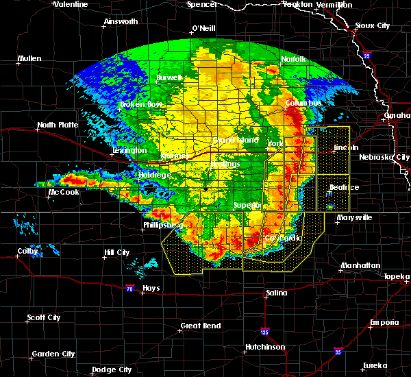 Radar Image for Severe Thunderstorms near Wymore, NE at 7/9/2020 12:56 AM CDT