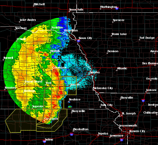 Radar Image for Severe Thunderstorms near Denton, NE at 7/9/2020 1:01 AM CDT